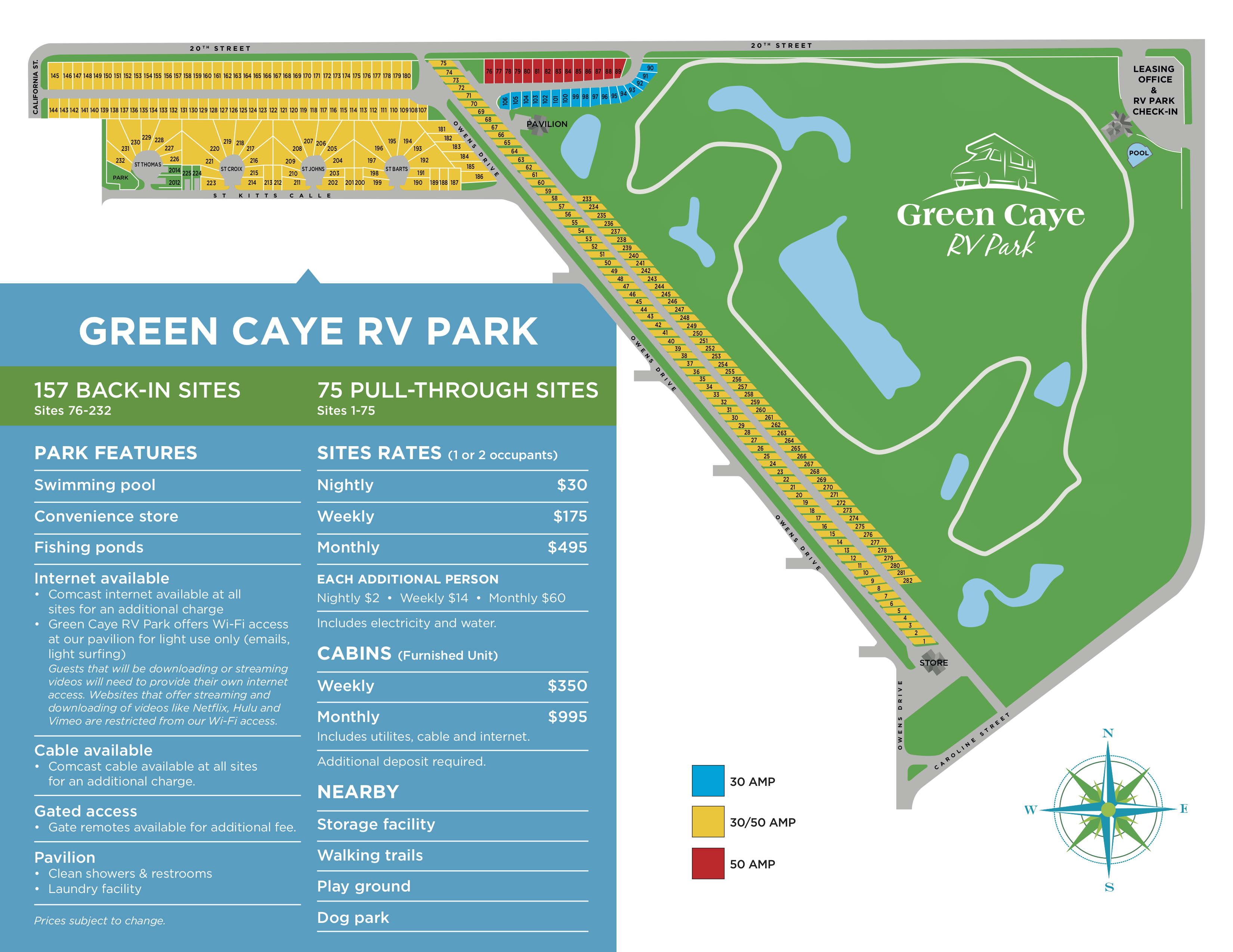 Map of Green Caye RV Park